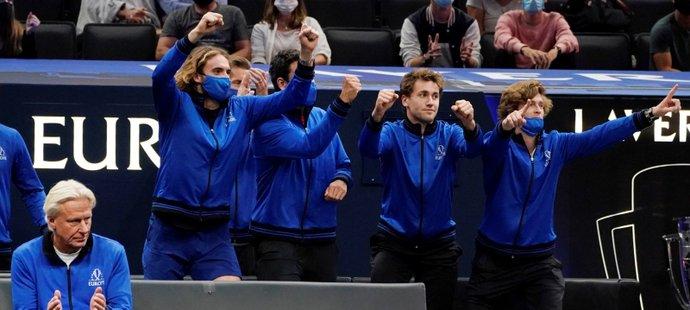Tenisový Laver Cup, kde v úvodu jasně dominoval výběr Evropy