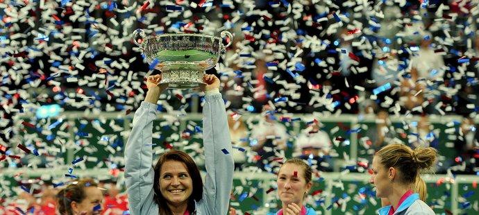 2015. Předposlední triumf ve Fed Cupu, Češky vyhrály nad Ruskami.