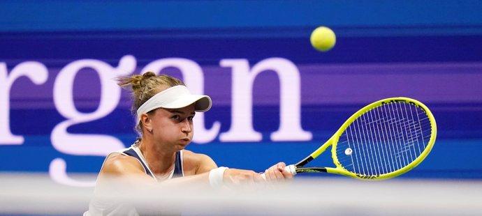 Barbora Krejčíková během čtvrtfinále US Open
