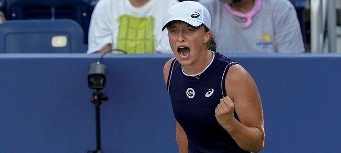 Polská tenistka Iga Šwiateková na letošním US Open