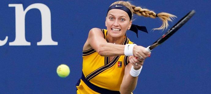 Česká tenistka Petra Kvitová během úspěšného vstupu do US Open