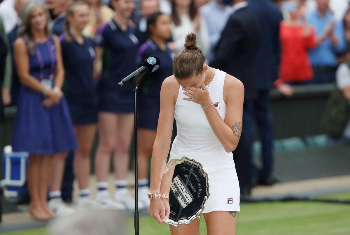 Při děkovné řeči se Karolína Plíšková neubránila slzám