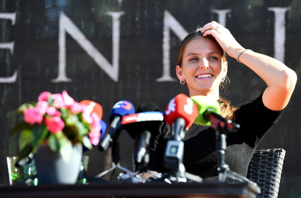 Karolína Plíšková po návratu domů z Anglie, kde na Wimbledonu skončila až ve finále