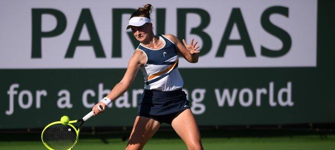 Barbora Krejčíková na turnaji v Indian Wells skončila v osmifinále