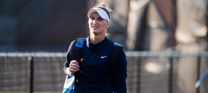 Česká tenistka Markéta Vondroušová na turnaji v Chicagu