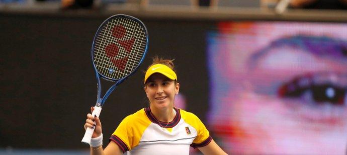 Švýcarská tenistka Belinda Bencicová uchvátila ostravské fanoušky slovenštinou