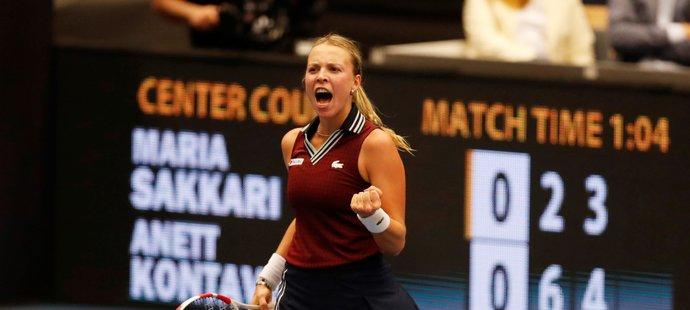 Semifinálová přemožitelka Petry Kvitové porazila ve finále dvanáctou hráčku světového žebříčku Mariu Sakkariovou z Řecka 6:2, 7:5