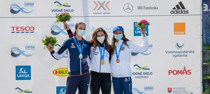 Gabriela Satková (vpravo) získala při premiéře na MS bronz