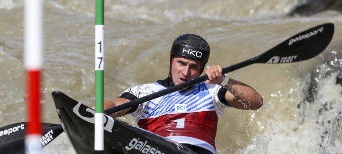 Český kajakář Vít Přindiš na závodech Světového poháru