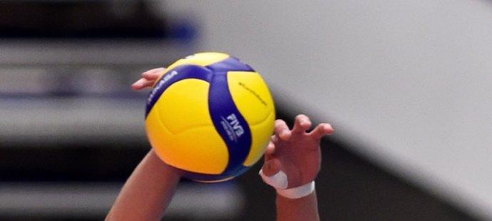 Lukáš Vašina blokuje ve čtvrtfinále mistrovství Evropy proti Slovinsku