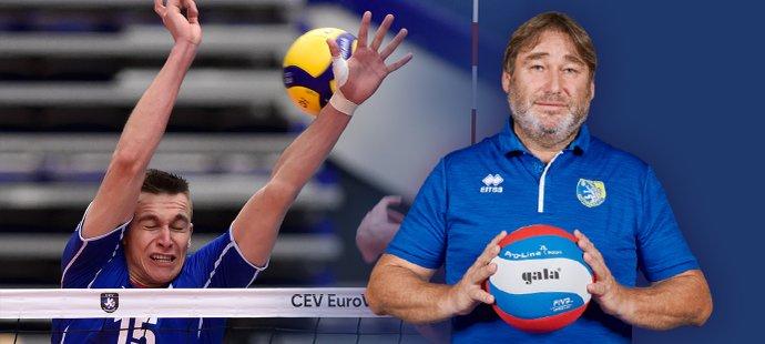 Trenér Lubomír Vašina je pyšný na syna Lukáše i celou volejbalovou reprezentaci