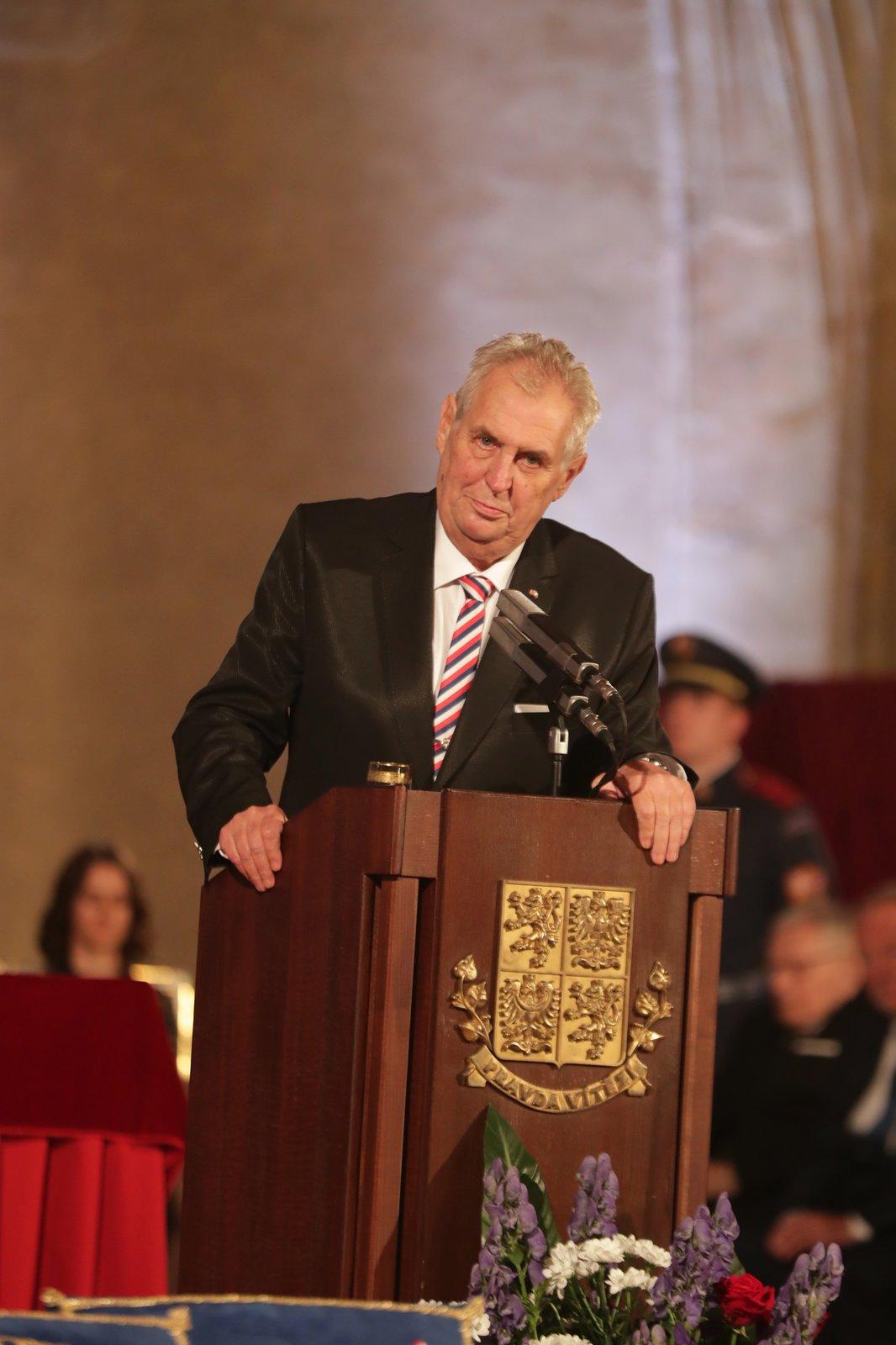 Státní vyznamenání 2017: Projev prezidenta Miloše Zemana