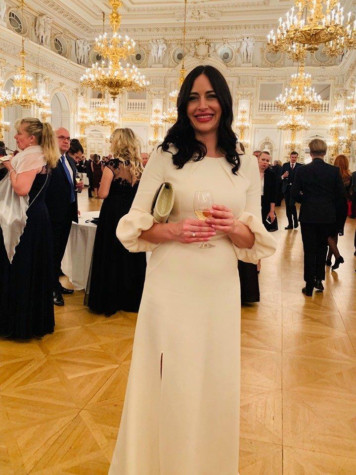 Alex Mynářová na recepci po předávání státních vyznamenání 2019