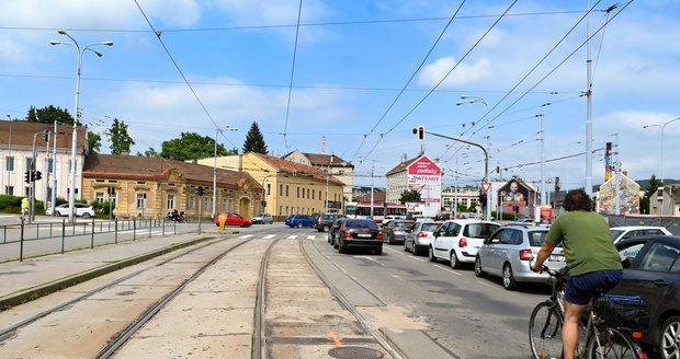 Dopravu v Brně omezuje stavba městského okruhu.