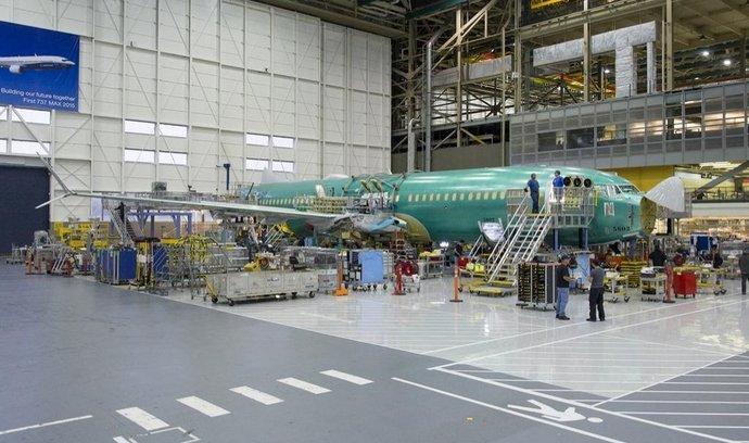 Stavba prvního Boeingu 737 MAX