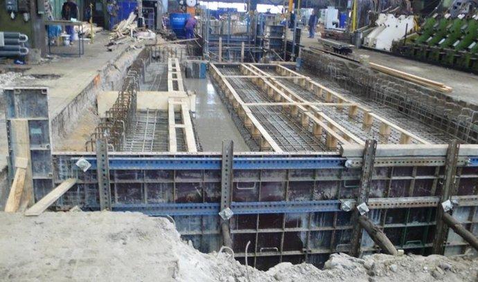 Stavebnictví - stavby základů pro stroje