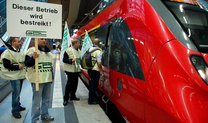 Stávka strojvůdců Deutsche Bahn (archivní foto)