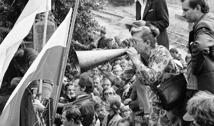 Stávka v gdaňských loděnicích v roce 1980, ilustrační foto