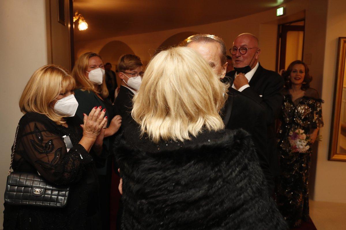 Oslava 65. narozenin Štefana Margity ve Státní opeře: Štefan Margita a Hana Zagorová