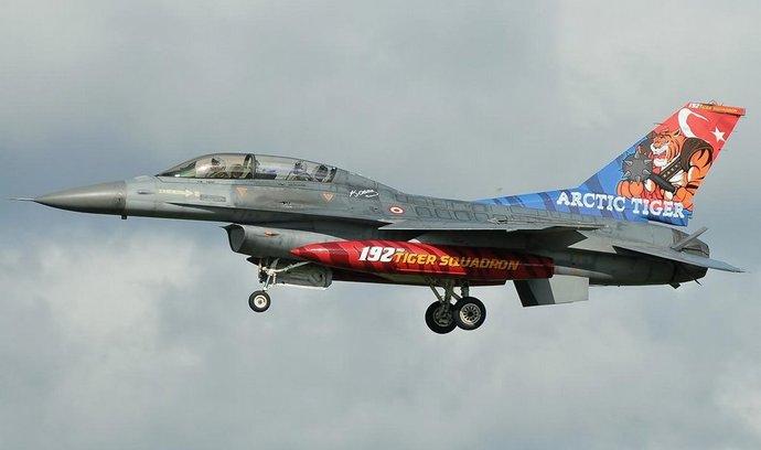 Stíhačka F-16 turecké armády