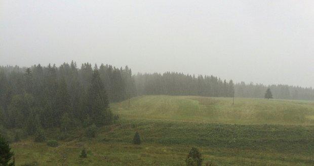 Silný déšť na Šumavě