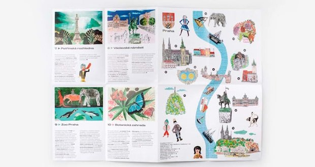 Prague City Tourism has introduced a new visual identity.  He wants to show Prague as a modern sophisticated city.  She also had new souvenirs produced