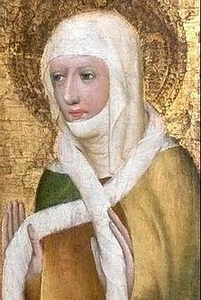 Takhle si kněžnu Ludmilu představoval v roce 1371 malíř Jan Očko z Vlašimi.