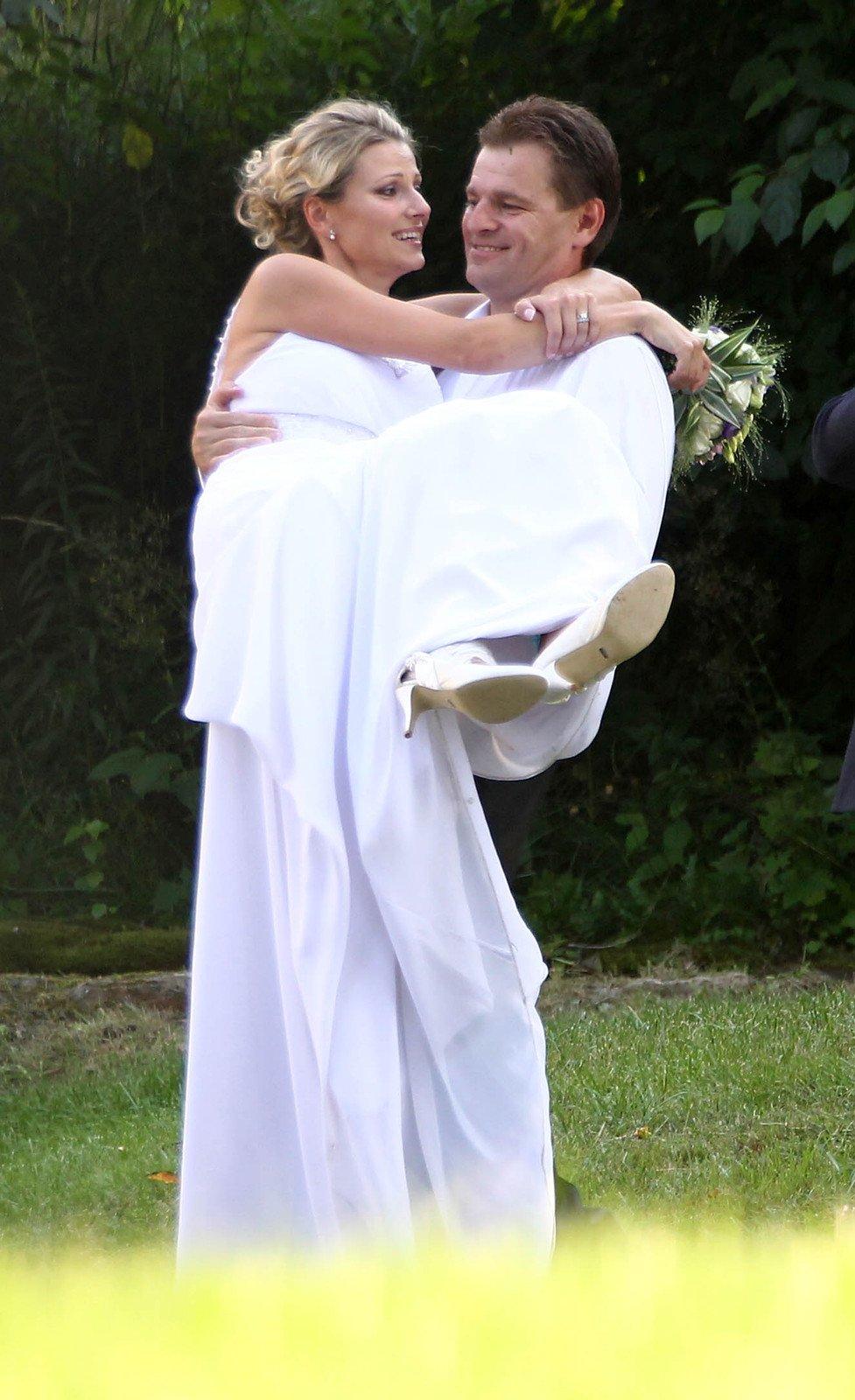 Modelka Jitka Kocurová a Tomáš Abrham  27. 7. 2012