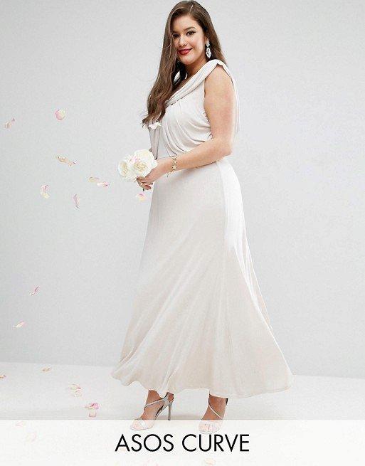 Svatební šaty, Asos Curve, 74 EUR