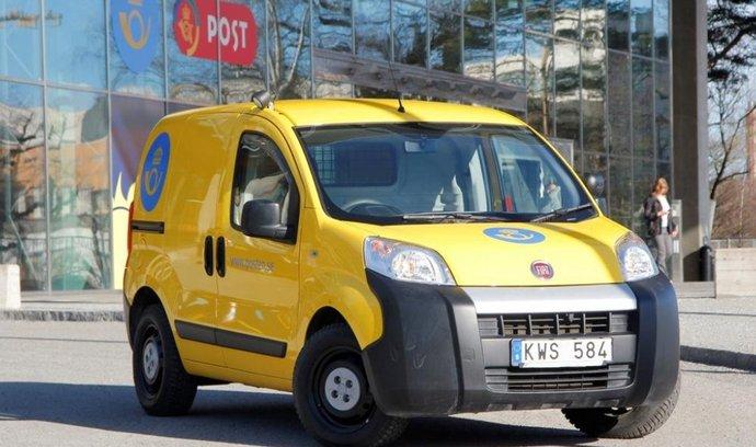 Švédská pošta zařadila do služby na 5000 na míru postavených Fiatů Fiorino