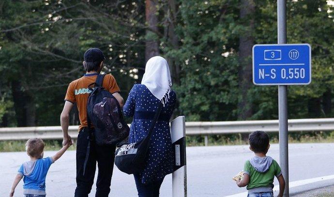 Syrská rodina na cestě do Německa