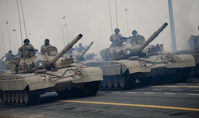 Syrské tanky T-72. Ilustrační foto.