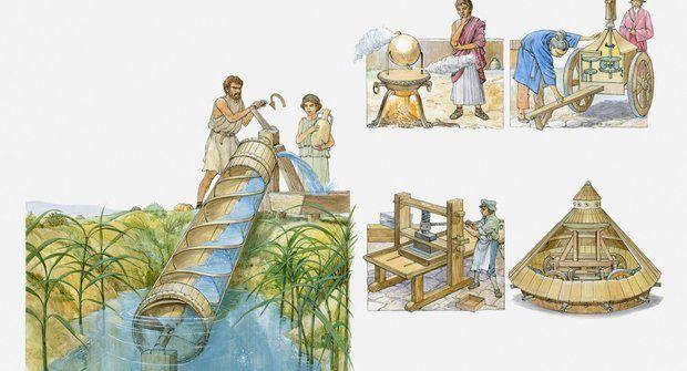 Vynálezy Leonarda Da Vinci: Válečný stroj na ruční pohon