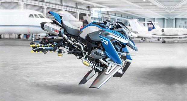 Létající motorka BMW: Od stavebnice k realitě