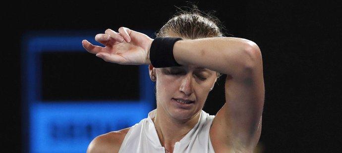 Petra Kvitová při finálové bitvě na Australian Open