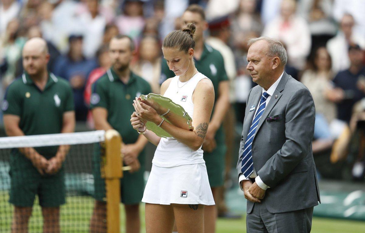 Karolína Plíšková jako poražená finalistka Wimbledonu