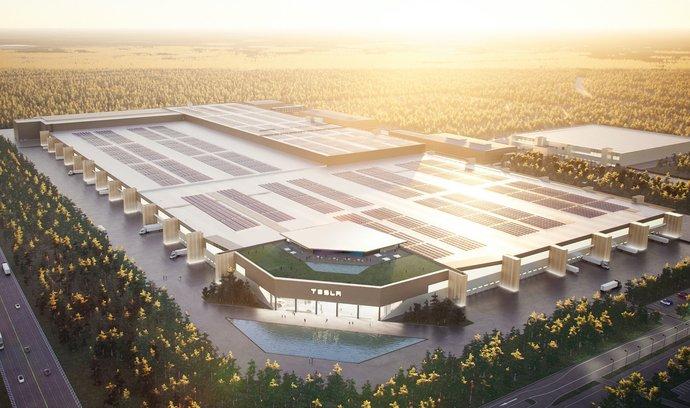 Americká automobilka Tesla staví u Berlína za čtyři miliardy eur továrnu Gigafactory 4 na výrobu elektromobilů a baterií.