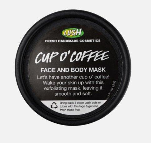 Exfoliační maska na obličej i tělo Cup O'Coffee, Lush, 285 Kč/100 ml