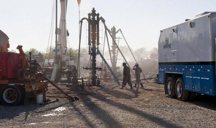 Těžba ropy frakováním v Texasu