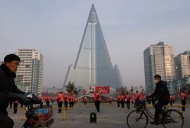 Místo hotelu nástroj propagandy: V KLDR stojí nejvyšší prázdná budova na světě