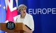 Britská premiérka Theresa May na summitu EU