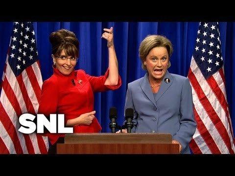 Tina Fey jako Sarah Palin a Amy Poehler jako Hillary Clinton
