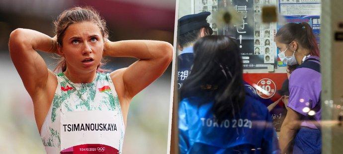 Běloruská běžkyně a kritička režimu Cimanouská byla pod nátlakem odvezena na letiště a nucena k návratu z Tokia