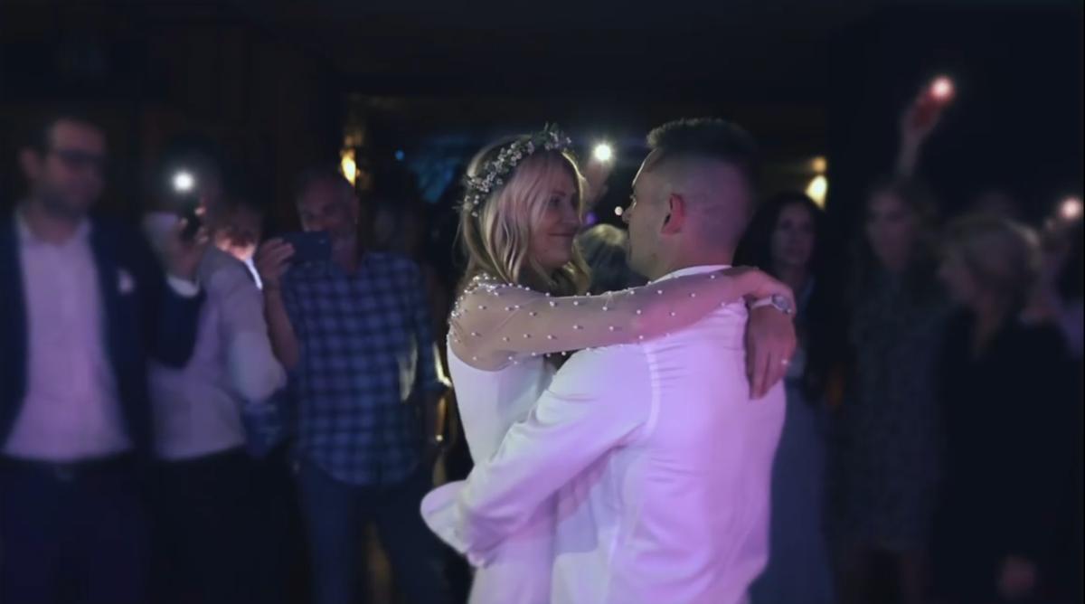 Momentka ze svatby Tomáše Plekance a Lucie Šafářové.