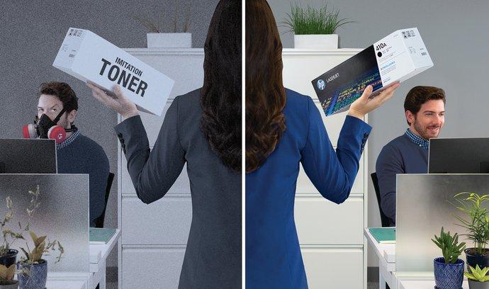 Při nákupu tonerů vybírejte originál od HP – správná volba vůči přírodě, vašemu zdraví i bezpečí.