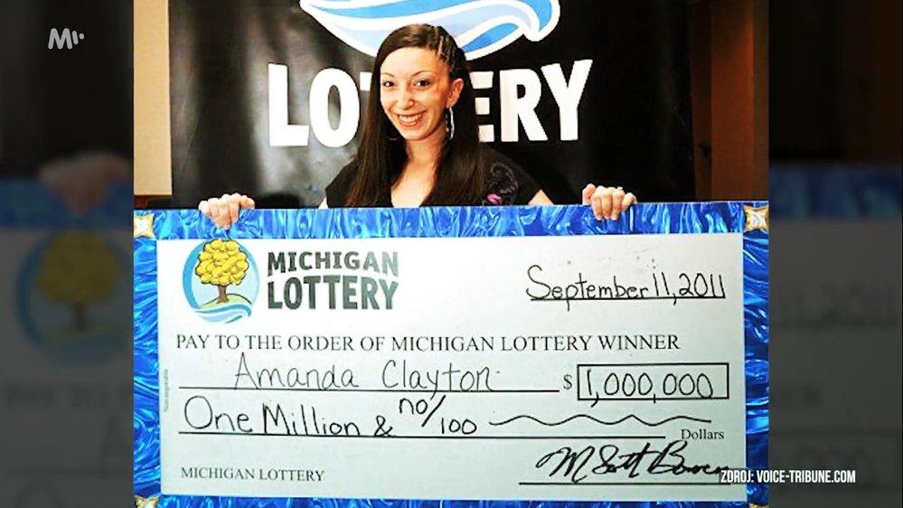 Amanda Clayton vyhrála jeden milion dolarů, přesto ale dál pobírala státní podporu pro nejchudší.