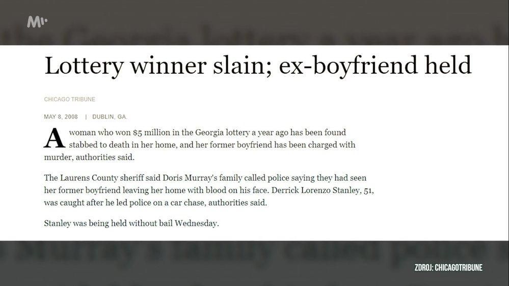 I ji ale našli rok po výhře mrtvou - ubodal ji její přítel.