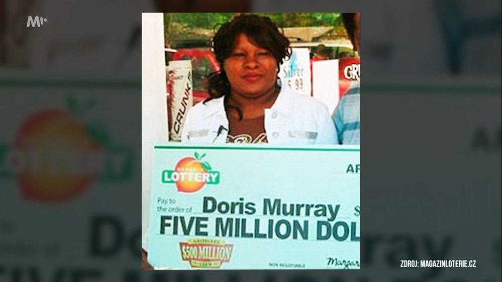 Doris Murray vyhrála 125 milionů korun a nakládala s nimi neuvěřitelně zodpovědně - chtěla šetřit pro vnoučata a utrácela jen málo.