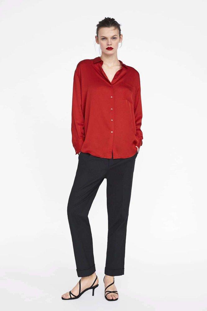 Saténová košile, Zara, 899 Kč