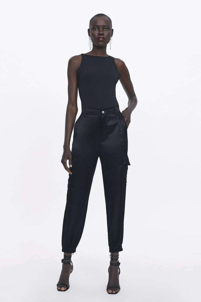 Saténové kalhoty, Zara, 1299 Kč